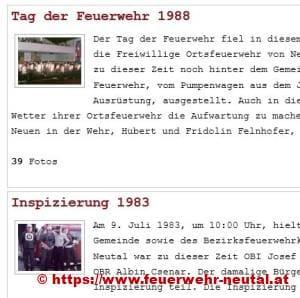 FW-Neutal Historisches