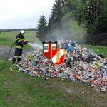 Brandeinsatz Müllauto am 04.10.2019